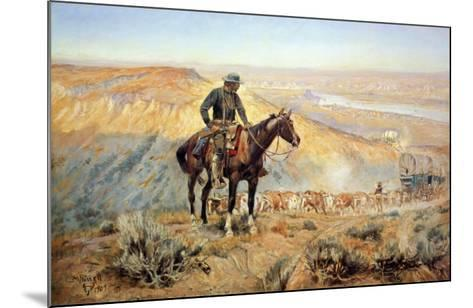 The Wagon Boss-Charles Marion Russell-Mounted Art Print