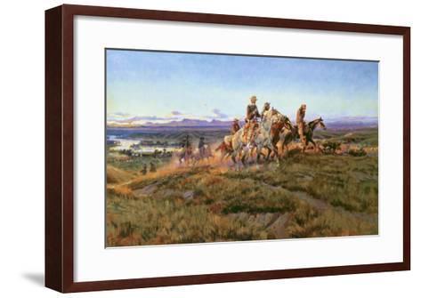 Men of the Open Range-Charles Marion Russell-Framed Art Print