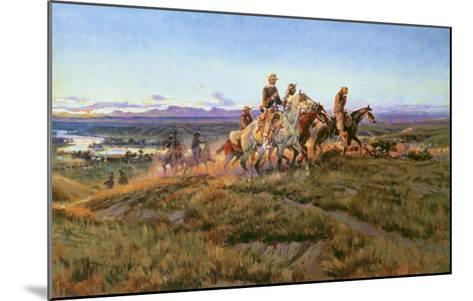 Men of the Open Range-Charles Marion Russell-Mounted Art Print