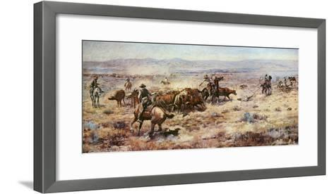 The Round-Up-Charles Marion Russell-Framed Art Print
