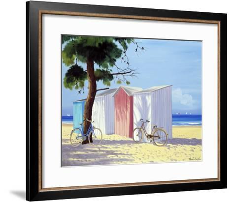 Les Deux Velos-Henri Deuil-Framed Art Print
