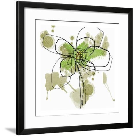 Butterfly Flower I-Jan Weiss-Framed Art Print