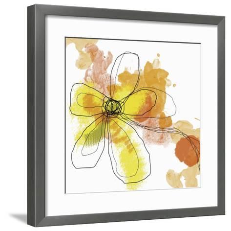 Butterfly Flower II-Jan Weiss-Framed Art Print
