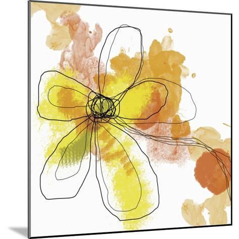 Butterfly Flower II-Jan Weiss-Mounted Art Print