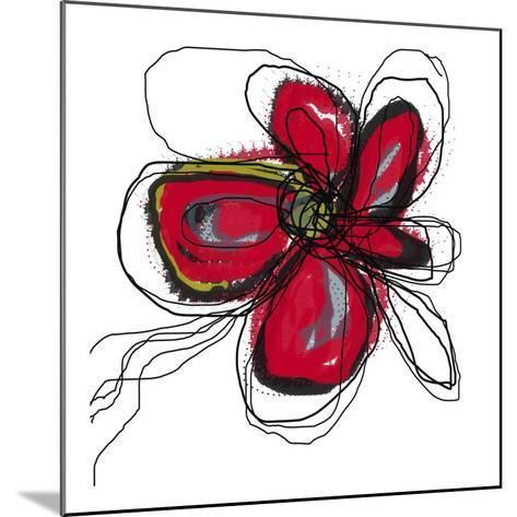 Butterfly Red-Jan Weiss-Mounted Art Print
