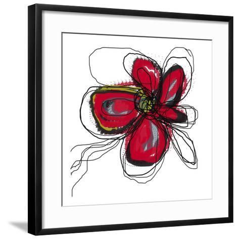 Butterfly Red-Jan Weiss-Framed Art Print