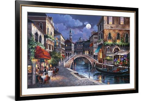 Streets of Venice II-Alma Lee-Framed Art Print