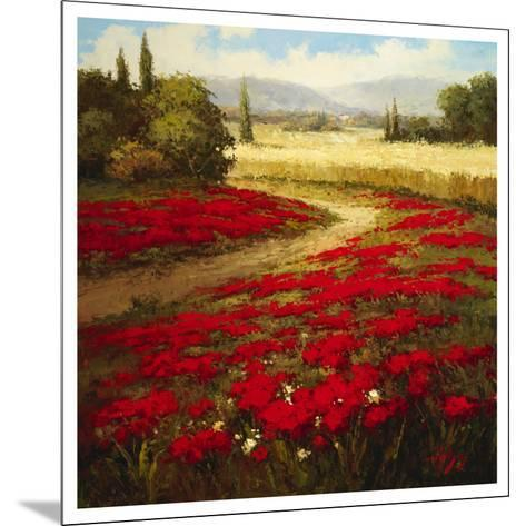 Red Poppy Trail-Hulsey-Mounted Art Print