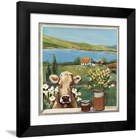 Cow in Window-Suzanne Etienne-Framed Art Print