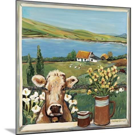 Cow in Window-Suzanne Etienne-Mounted Art Print
