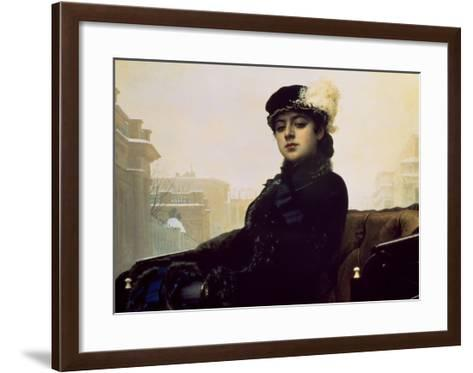 Portrait of an Unknown Woman-Ivan Kramskoj-Framed Art Print
