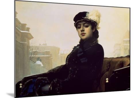 Portrait of an Unknown Woman-Ivan Kramskoj-Mounted Art Print