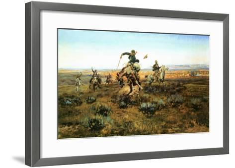 A Bad One-Charles Marion Russell-Framed Art Print