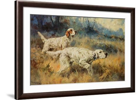 Two Setters-Percival L^ Rosseau-Framed Art Print