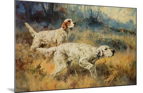 Two Setters-Percival L^ Rosseau-Mounted Art Print