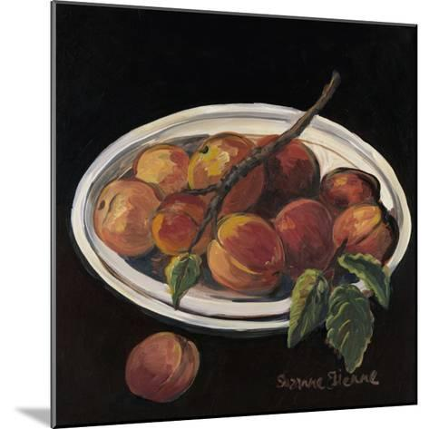 Bowl of Peaches-Suzanne Etienne-Mounted Art Print