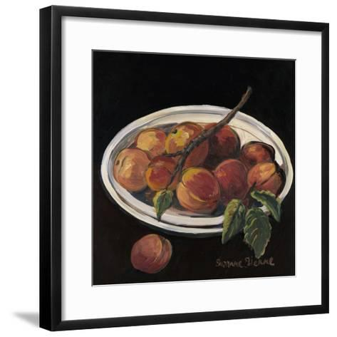 Bowl of Peaches-Suzanne Etienne-Framed Art Print