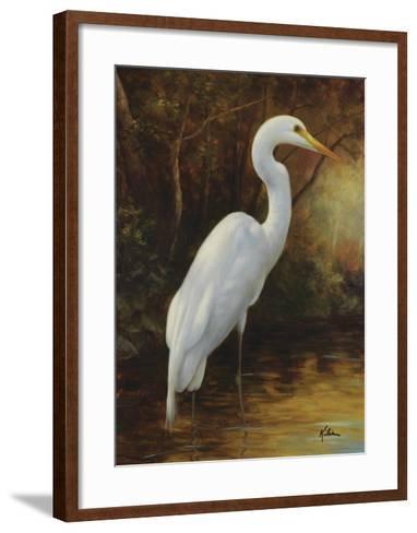 Evening Egret-Kilian-Framed Art Print