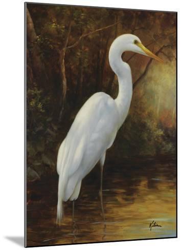 Evening Egret-Kilian-Mounted Art Print