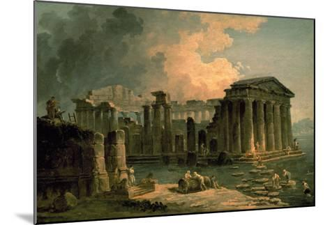 Ruins of a Doric Temple-Hubert Robert-Mounted Art Print