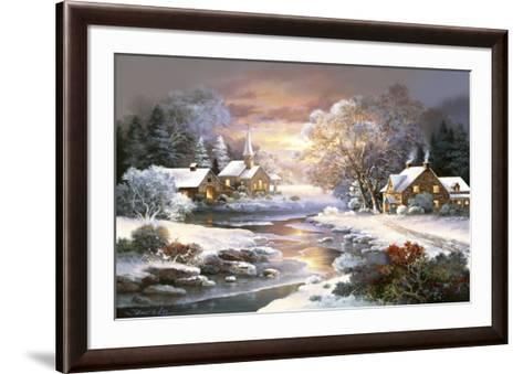 Winter Church-Alma Lee-Framed Art Print
