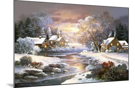 Winter Church-Alma Lee-Mounted Art Print