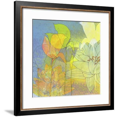 Lily Shadows-Jan Weiss-Framed Art Print