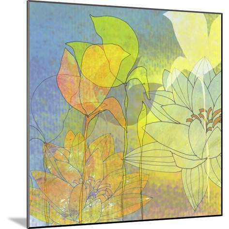 Lily Shadows-Jan Weiss-Mounted Art Print