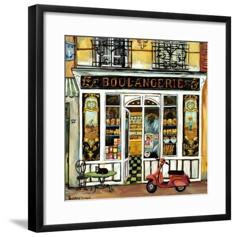 Boulangerie and Red Scooter-Suzanne Etienne-Framed Art Print