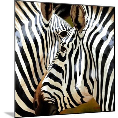 Zebra Close-up-Arcobaleno-Mounted Art Print