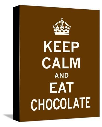 Keep Calm and Eat Chocolate-The Vintage Collection-Stretched Canvas Print