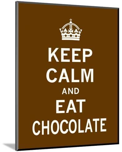 Keep Calm and Eat Chocolate-The Vintage Collection-Mounted Art Print
