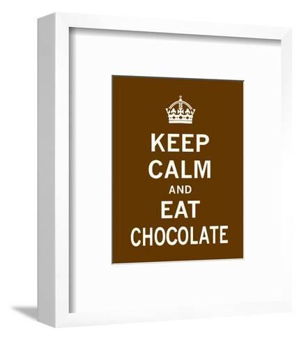 Keep Calm and Eat Chocolate-The Vintage Collection-Framed Art Print