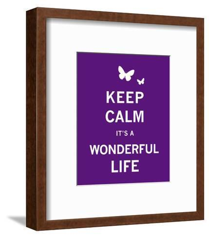 Keep Calm It's a Wonderful Life-The Vintage Collection-Framed Art Print