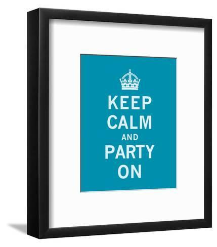 Keep Calm and Party On-The Vintage Collection-Framed Art Print