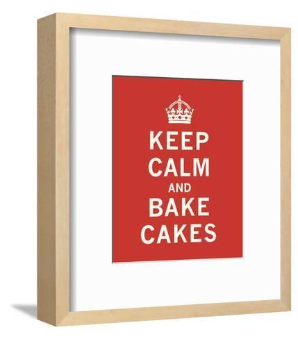 Keep Calm, Bake Cakes-The Vintage Collection-Framed Art Print