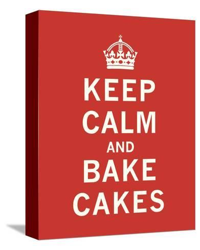 Keep Calm, Bake Cakes-The Vintage Collection-Stretched Canvas Print