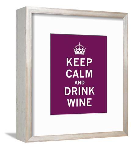 Keep Calm, Drink Wine-The Vintage Collection-Framed Art Print
