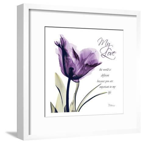 My Love, Purple Tulip-Albert Koetsier-Framed Art Print