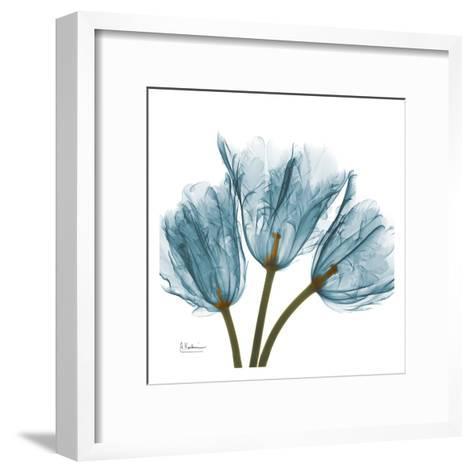 Tulips in Blue-Albert Koetsier-Framed Art Print
