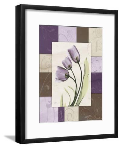 Tulips Wineberry-Albert Koetsier-Framed Art Print