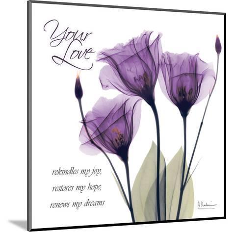 Your Love, Purple Tulip-Albert Koetsier-Mounted Art Print