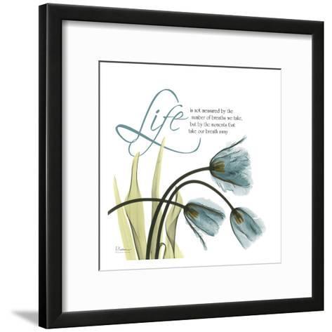 Swaying Tulips Blue, Life-Albert Koetsier-Framed Art Print