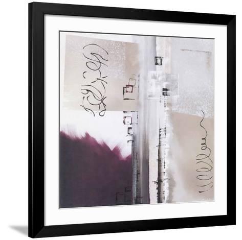 Abstraction Violette-Elisa Godefroid-Framed Art Print