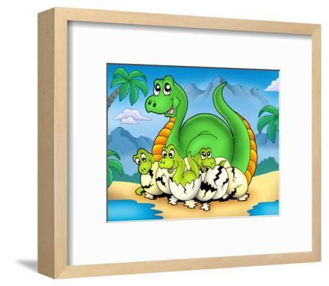 Dino II-Klara Viskova-Framed Art Print