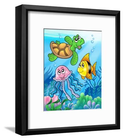 Fishes II-Klara Viskova-Framed Art Print