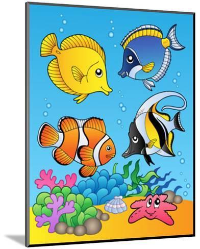 Four Fishes-Klara Viskova-Mounted Art Print
