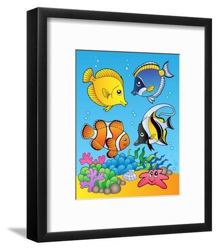 Four Fishes-Klara Viskova-Framed Art Print