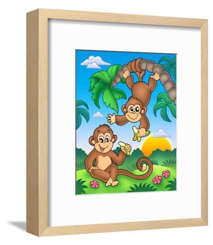 Monkeys-Klara Viskova-Framed Art Print