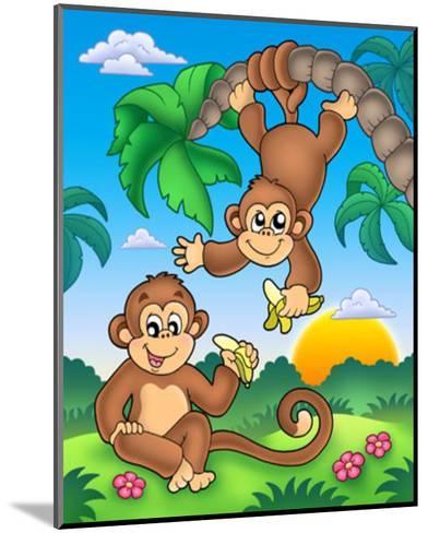 Monkeys-Klara Viskova-Mounted Art Print